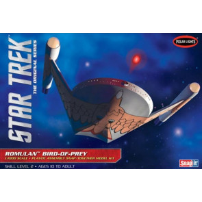Star Trek Romulan Bird of Prey 1:1000 Scale Polar Lights Plastic Snap Kit