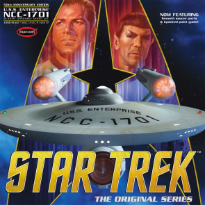 Star Trek TOS Enterprise 50th Anniversary Edition Large 1:350 Scale Polar Lights Kit POL938