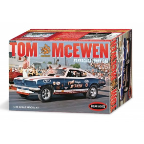 "Tom ""Mongoose"" McEwen 1969 Barracuda Funny Car 1:25 Scale Polar Lights Plastic Kit"