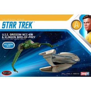 USS Grissom NCC-638 & Klingon Bird of Prey - Star Trek: The Search for Spock 1:1000 Scale Polar Lights Plastic Kit