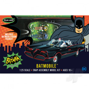 Polar Lights 1:25 1966 Batman Batmobile (Snap) Car Plastic Kit