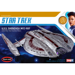 Star Trek USS Shenzhou NCC-1227 Polar Lights 1:2500 Scale Plastic Kit