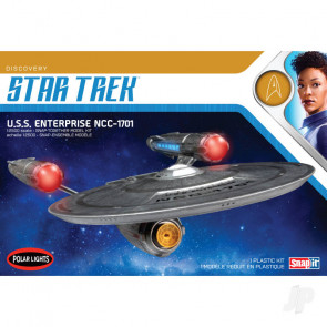 Star Trek Discovery USS Enterprise NCC-1701 Snap 2T Polar Lights 1:2500 Scale Plastic Kit