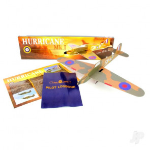 Hurricane Mk I Large Balsa Freeflight Kit with History Sheet & Pilot Logbook