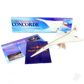 Concorde 50th Anniversary Large Balsa Freeflight Kit with History Sheet & Pilot Logbook