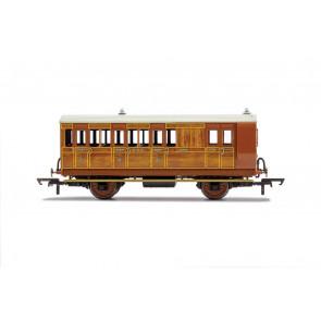 GNR, 4 Wheel Coach, Brake 3rd Class, 399, Era 2 Hornby 00 Gauge Model Trains