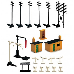 Trackside Accessory Pack for Model Railways - Hornby Accessories R574