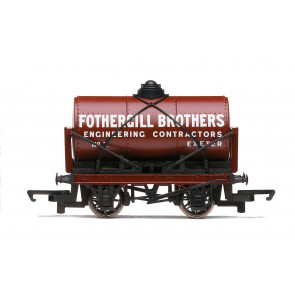 PO, Fothergill Brothers, Tank Wagon, Era 2 - Hornby 00 Gauge Model Train Wagon