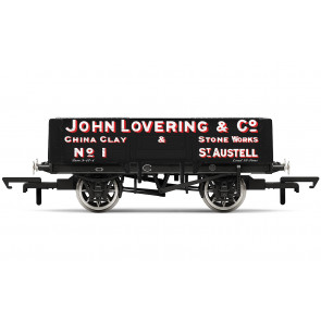 5 Plank Wagon, 'John Lovering & Co.' No.1 - Hornby 00 Gauge