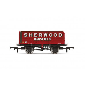 7 Plank Wagon, 'Sherwood Colliery' No. 47 - Era 2 - Hornby 00 Gauge