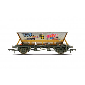 BR, HAA wagon with graffiti, 355855 - Era 8 - Hornby 00 Gauge Model Train