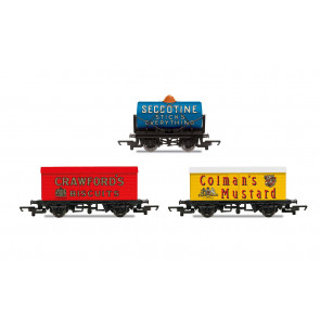 Retro Wagons 3 Pack - Crawfords/Seccotine/Coleman's Mustard - Hornby Model Train 00
