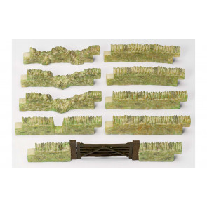 Granite Stone Wall Pack No. 2 with Gate - Hornby Train Accessories 00 Gauge