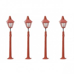 Railway Station Platform Lamps (4) R8673 - Hornby Train Accessories 00 Gauge