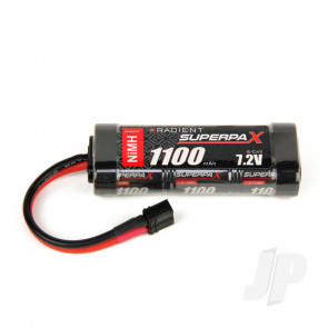 Radient NiMH Battery 7.2V 1100mAh 2/3A Stick Pack Deans HCT T-style Connector