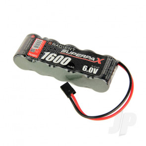 Radient NiMH Battery 6.0V 1600mAh 2/3A SBS-Flat Rx Pack