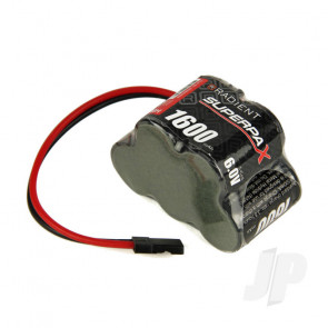Radient NiMH Battery 6.0V 1600mAh 2/3A 3-2 Hump Rx Pack