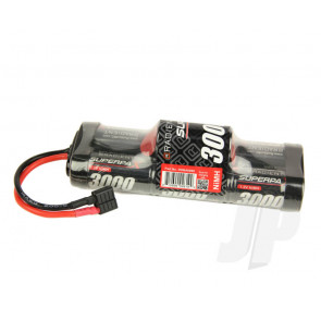 Superpax 7-Cell SC 3000mAh 8.4V NiMH Hump Battery Pack with Deans T-style Plug