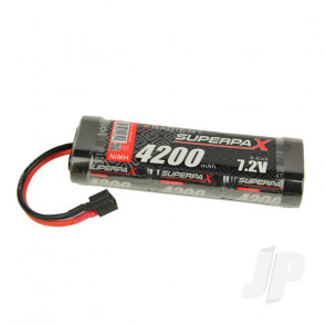 Radient NiMH Battery 7.2V 4200mAh SC Stick Pack Deans HCT T-Style Connector Plug
