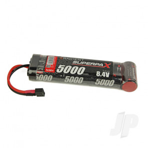 Radient NiMH Battery 8.4V 5000mAh SC 6-1 Stick Pack Deans HCT T-style Connector Plug