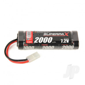 Radient NiMH Battery 7.2V 2000mAh SC Stick Pack, Tamiya Connector Plug