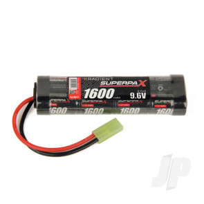 Radient NiMH Battery 9.6V 1600mAh 2/3A Stick Pack Mini Tamiya Connector Plug