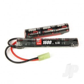 Radient NiMH Battery 8.4V 1600mAh 2/3A Saddle-Stick Pack Mini Tamiya Connector Plug