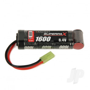 Radient NiMH Battery 8.4V 1600mAh 2/3A Stick Pack Mini Tamiya Connector Plug