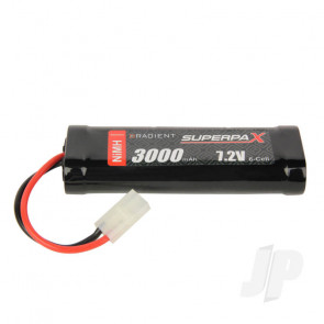 Radient NiMH Battery 7.2V 3000mAh SC Stick Pack Tamiya Connector Plug