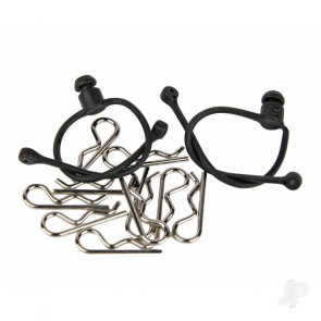 Radient Body Clips (10 pcs) with Black Retainers (2 pcs)