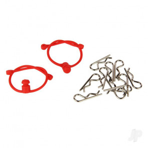 Radient Body Clips (10 pcs) with Red Retainers (2 pcs)
