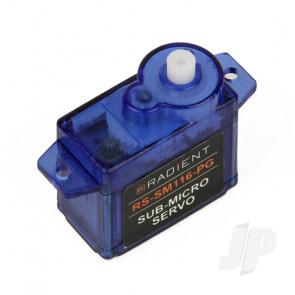 Radient RS-SM116-PG Sub-Micro Servo 8g Analog