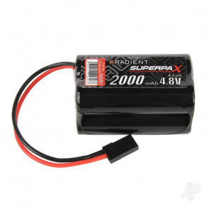 Radient NiMH Battery 4.8V 2000mAh AA Square, Rx, JR