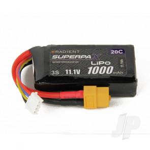 Radient LiPo Battery 3S 1000mAh 11.1V 20C XT60 Connector Plug