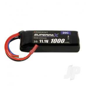 Radient LiPo Battery 3S 1000mAh 11.1V 20C JST Connector Plug