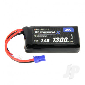 Radient LiPo Battery 2S 1300mAh 7.4V 20C EC2 Connector Plug
