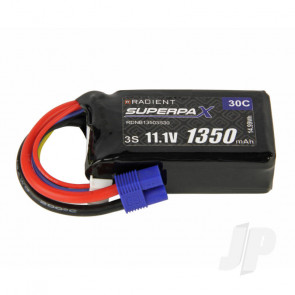 Radient LiPo Battery 3S 1350mAh 11.1V 30C EC3 Connector Plug