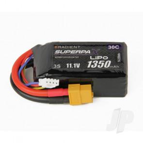 Radient LiPo Battery 3S 1350mAh 11.1V 30C XT60 Connector Plug