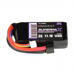 Radient 3S 1400mAh 11.1V 30C LiPo Battery w/ Deans (HCT) Connector Plug