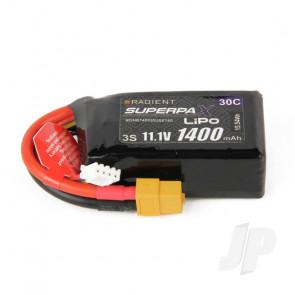 Radient LiPo Battery 3S 1400mAh 11.1V 30C XT60 Connector Plug