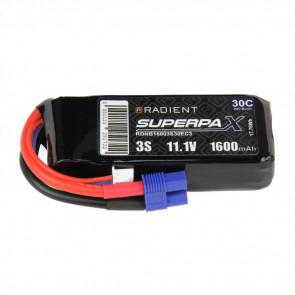 Radient 3S 1600mAh 11.1V 30C LiPo Battery w/ EC3 Connector Plug