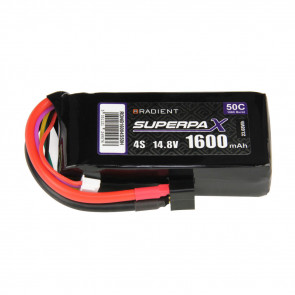 Radient 4S 1600mAh 14.8V 50C LiPo Battery w/ Deans (HCT) Connector Plug