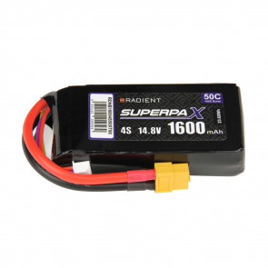 Radient 4S 1600mAh 14.8V 50C LiPo Battery w/ XT60 Connector Plug