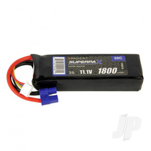 Radient LiPo Battery 3S 1800mAh 11.1V 30C EC3 Connector Plug