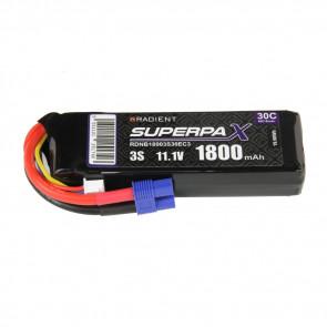 Radient 3S 1800mAh 11.1V 30C LiPo Battery w/ EC3 Connector Plug