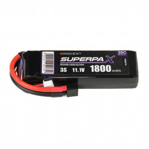 Radient 3S 1800mAh 11.1V 30C LiPo Battery w/ Deans (HCT) Connector Plug