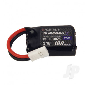 Radient LiPo Battery 1S 180mAh 3.7V 25C Mini Connector Plug