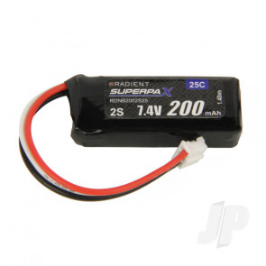 Radient LiPo Battery 2S 200mAh 7.4V 25C 3-Pin Connector Plug