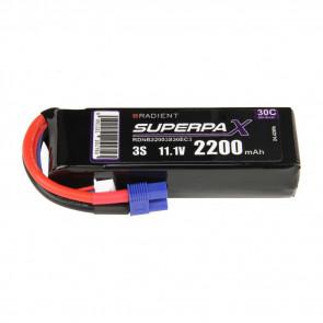 Radient 3S 2200mAh 11.1V 30C LiPo Battery w/ EC3 Connector Plug