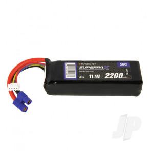Radient LiPo Battery 3S 2200mAh 11.1V 50C EC3 Connector Plug